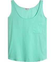 blusa m/s con bolsillo color verde, talla 6