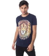 camiseta família leão gola redonda thiago brado 1107000001 marinho - marinho - gg - masculino