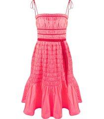 molly goddard shirred mini dress - pink