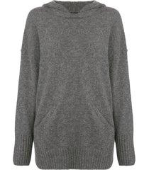 james perse lightweight cashmere hoodie - grey