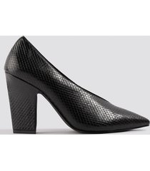 na-kd shoes high vamp pointy pumps - black