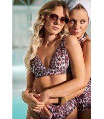 hunkemöller leopard triangel-bikiniöverdel svart