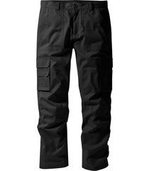 pantaloni cargo con teflon regular fit straight (nero) - bpc selection