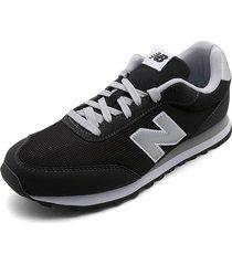 tenis lifestyle negro-blanco-plateado new balance classic gm050