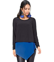 blouse amy vermont zwart::royal blue