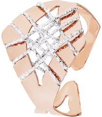 anello in bronzo bicolore per donna