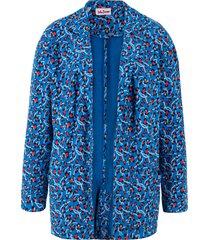 giacca lunga in felpa morbida fantasia (blu) - john baner jeanswear