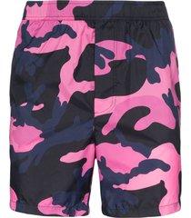 valentino camouflage swim shorts - pink