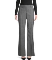 boss hugo boss women's tulea stretch virgin wool flare trousers - grey - size 4