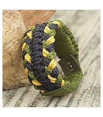 men's wristband bracelet, 'forest braid' (ghana)