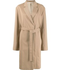 filippa k amie belted mid-length coat - neutrals