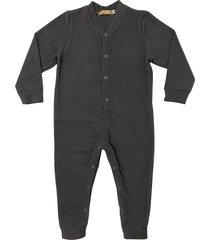 macacã£o pijama em soft grosso douvelin chumbo - cinza - poliã©ster - dafiti