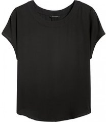 blusa drapey top negro banana republic