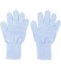 siola ribbed cuff gloves - blue