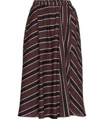 ceres skirt autumn stripe knälång kjol brun moshi moshi mind