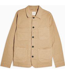 mens yellow selected homme sand cotton jacket