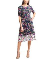 jessica howard floral-print jersey a-line dress