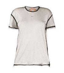 nº21 camiseta com logo e tela - branco