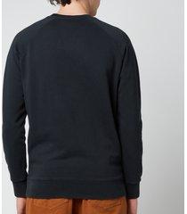 maison kitsuné men's double fox head patch classic sweatshirt - anthracite - xxl