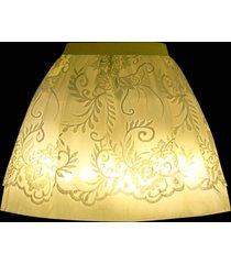 high waisted led light up mini skirt