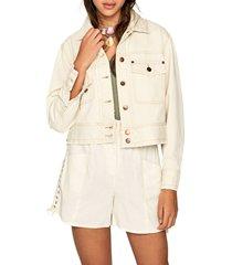 chaqueta blanco hueso pepe jeans