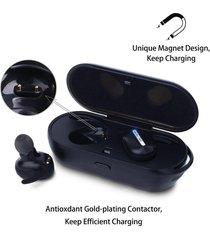 audífonos bluetooth deportivos con estuche de carga - negro