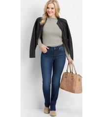everflex high rise dark straight leg jeans