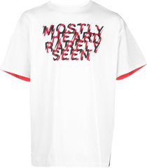 mostly heard rarely seen fanatic crew drop shoulder t-shirt - white