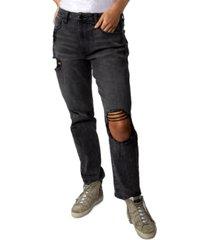 indigo rein juniors' ripped high-rise jeans