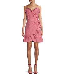 ruffle wrap-effect dress