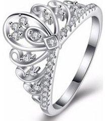 anillo corona de la reina casual blanco arany joyas