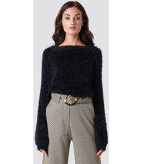 rut&circle feather knit - black