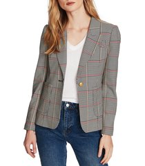 women's court & rowe peak lapel plaid blazer