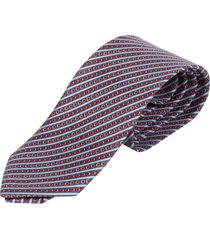 salvatore ferragamo slant stripe print neck tie