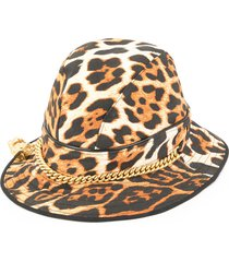 christian dior pre-owned leopard pattern hat - brown