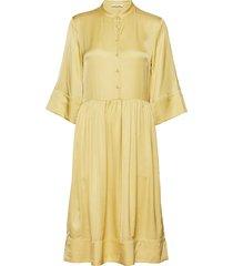 mila dress jurk knielengte geel nué notes
