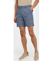 lyle & scott cotton linen walkshort shorts navy