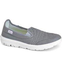 zapatilla gris gowell pola