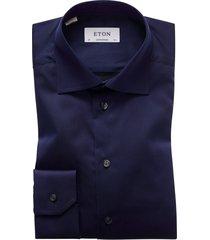 eton overhemd navy effen contemporary