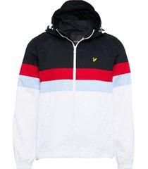 contrast panel yoke jacket tunn jacka vit lyle & scott