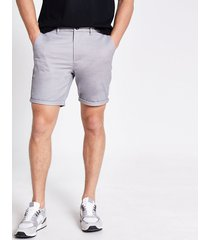 river island mens grey sid skinny shorts