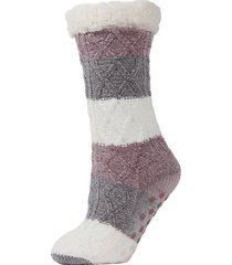 tranquillity tri-color slipper socks