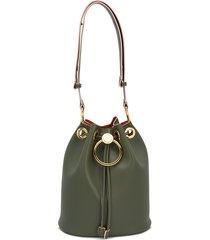 marni earring bucket bag - green