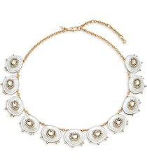 alexis bittar women's 10k goldplated, lucite & crystal statement necklace