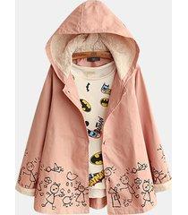 cappotto con cappuccio stampa fantasia carina