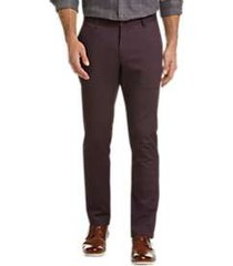 joseph abboud burgundy modern fit casual pants