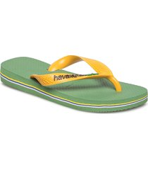 brasil logo flip flop shoes summer shoes flip flops creme havaianas