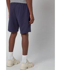 kenzo men's tiger crest classic shorts - navy blue - xl