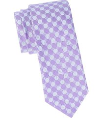 eton men's medallion silk tie - purple