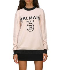 balmain sweater crewneck sweater with balmain maxi logo